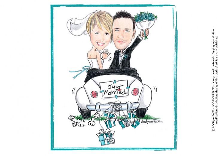 Disegni per matrimonio loch your face for Disegno sposi