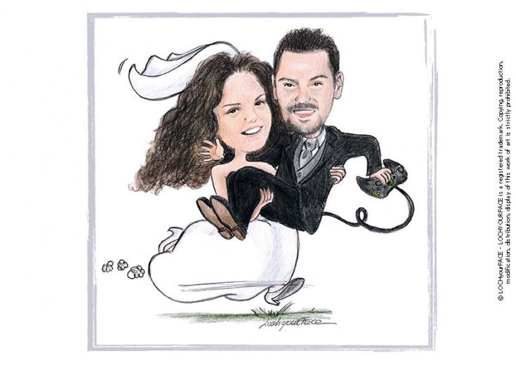 Disegni per matrimonio loch your face for Sposa che corre