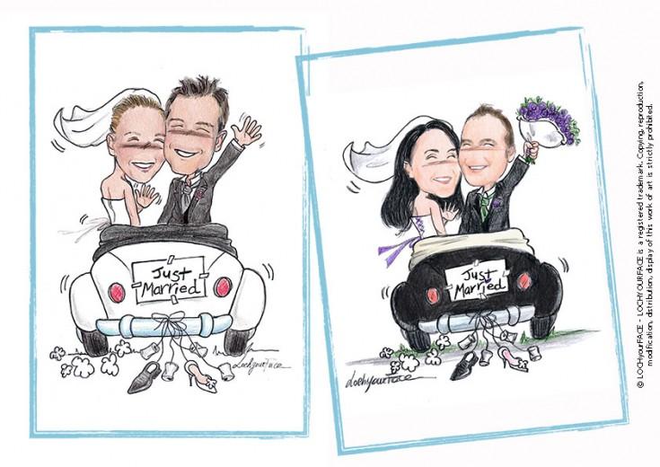 Scenette per matrimonio loch your face for Disegno sposi