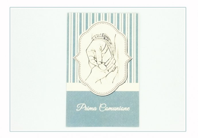 Invito Comunione I Loch You cod.004 formato cartolina (vista fronte)