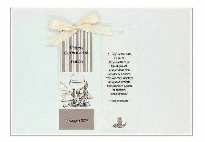 Segnalibro Comunione cod.015 personalizzato con disegno e testi