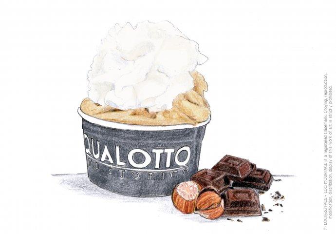 Disegno fatto a mano per insegna gelateria